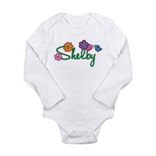 Shelby Flowers Long Sleeve Infant Bodysuit