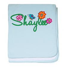 Shaylee Flowers baby blanket