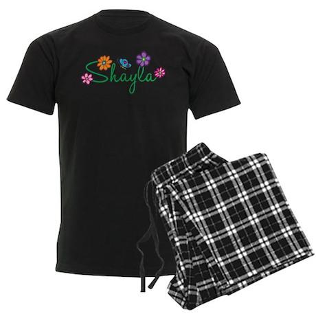 Shayla Flowers Men's Dark Pajamas