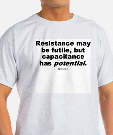 Resistance may be futile -  Ash Grey T-Shirt