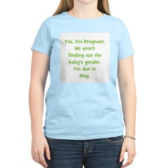 Pregnant - Suprise - May Women's Pink T-Shirt