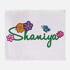 Shaniya Flowers Throw Blanket