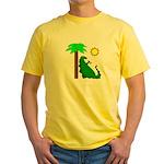 Stegosaurus Yellow T-Shirt