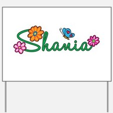 Shania Flowers Yard Sign