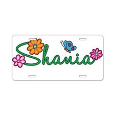 Shania Flowers Aluminum License Plate