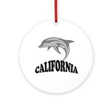 California Dolphin Souvenir Ornament (Round)