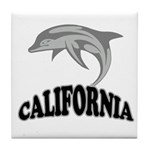 California Dolphin Souvenir Tile Coaster