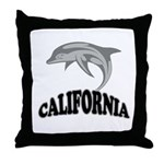 California Dolphin Souvenir Throw Pillow