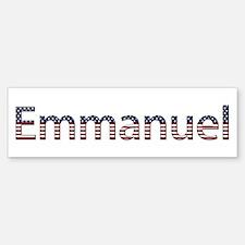 Emmanuel Stars and Stripes Bumper Bumper Bumper Sticker