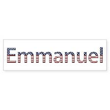 Emmanuel Stars and Stripes Bumper Bumper Sticker