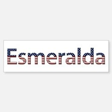 Esmeralda Stars and Stripes Bumper Bumper Bumper Sticker