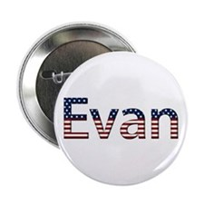 Evan Stars and Stripes Button