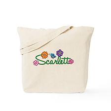 Scarlett Flowers Tote Bag