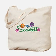 Scarlett Flowers Tote Bag