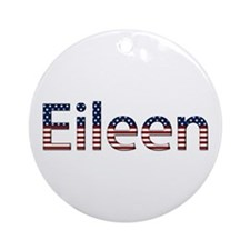 Eileen Stars and Stripes Round Ornament