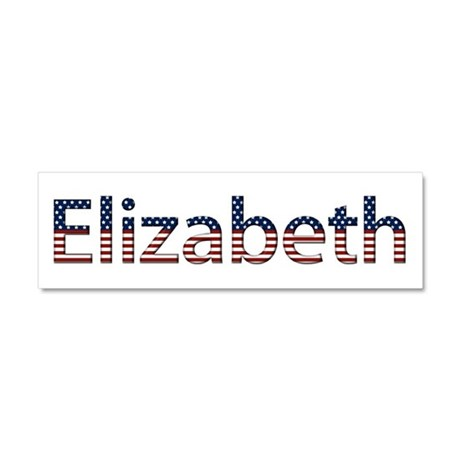 Elizabeth Stars and Stripes 10x3 Car Magnet