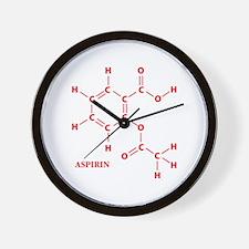 Aspirin Molecule Wall Clock