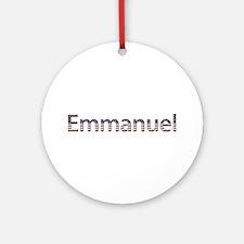 Emmanuel Stars and Stripes Round Ornament