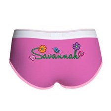 Savannah Flowers Women's Boy Brief