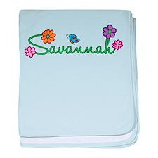Savannah Flowers baby blanket