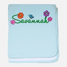 Savannah Flowers baby blanket