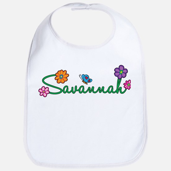 Savannah Flowers Bib