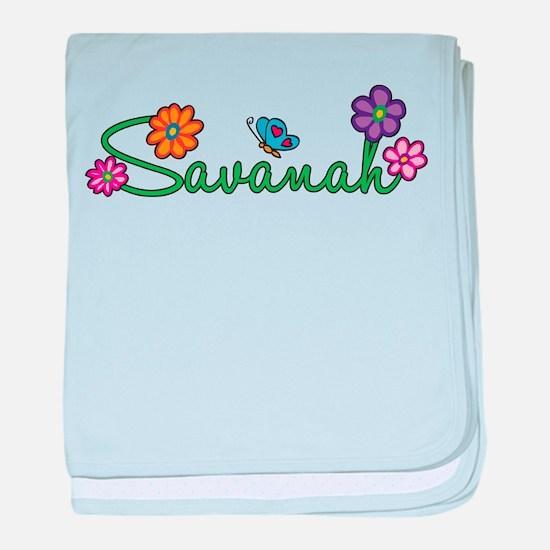 Savanah Flowers baby blanket