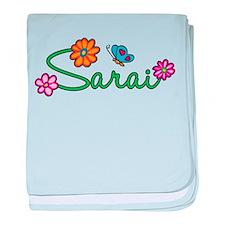 Sarai Flowers baby blanket