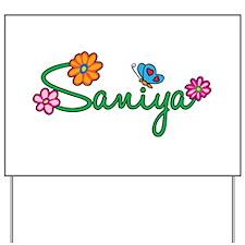 Saniya Flowers Yard Sign