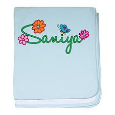 Saniya Flowers baby blanket