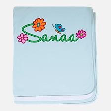 Sanaa Flowers baby blanket