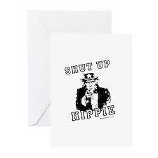 Shut up, Hippie - Greeting Cards (Pk of 10)