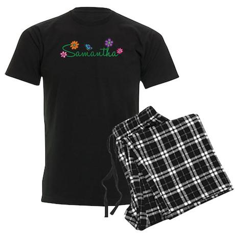 Samantha Flowers Men's Dark Pajamas