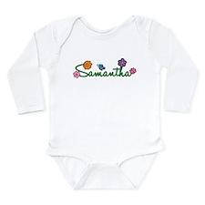 Samantha Flowers Long Sleeve Infant Bodysuit