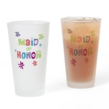 Happy Maid of Honor Drinking Glass