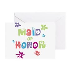 Happy Maid of Honor Greeting Card