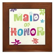 Happy Maid of Honor Framed Tile