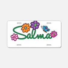 Salma Flowers Aluminum License Plate