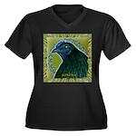 Framed Sumatra Rooster Women's Plus Size V-Neck Da