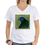 Framed Sumatra Rooster Women's V-Neck T-Shirt