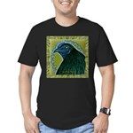 Framed Sumatra Rooster Men's Fitted T-Shirt (dark)
