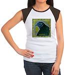 Framed Sumatra Rooster Women's Cap Sleeve T-Shirt