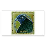 Framed Sumatra Rooster Sticker (Rectangle 10 pk)