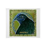Framed Sumatra Rooster Throw Blanket