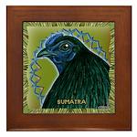 Framed Sumatra Rooster Framed Tile