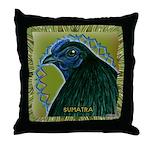 Framed Sumatra Rooster Throw Pillow