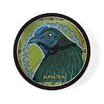Framed Sumatra Rooster Wall Clock