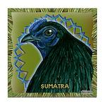 Framed Sumatra Rooster Tile Coaster