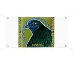 Framed Sumatra Rooster Banner