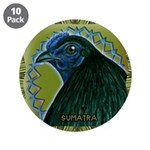 """Framed Sumatra Rooster 3.5"""" Button (10 pack)"""